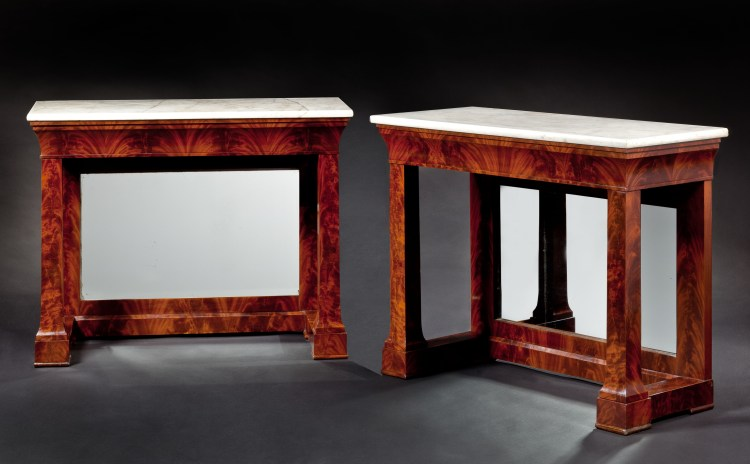 Pair of Plain-Style Pier Tables