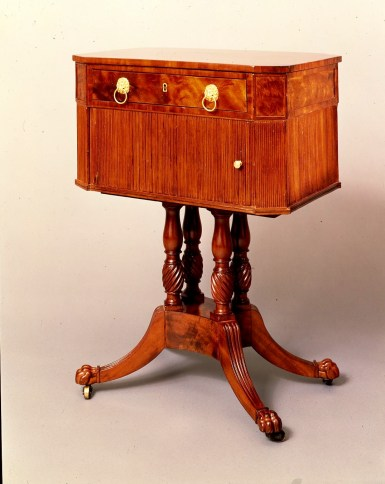 Tambour Work Table by Duncan Phyfe