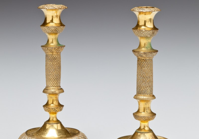 Miniature Gilt-Bronze Taper Sticks