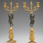 Restauration Gilt-Bronze Candelabra