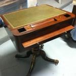 Rosewood and Faux-Rosewood, Parcel-Gilt Pedestal Desk