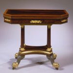 Bronze-Mounted Rosewood Card Table by Phyfe