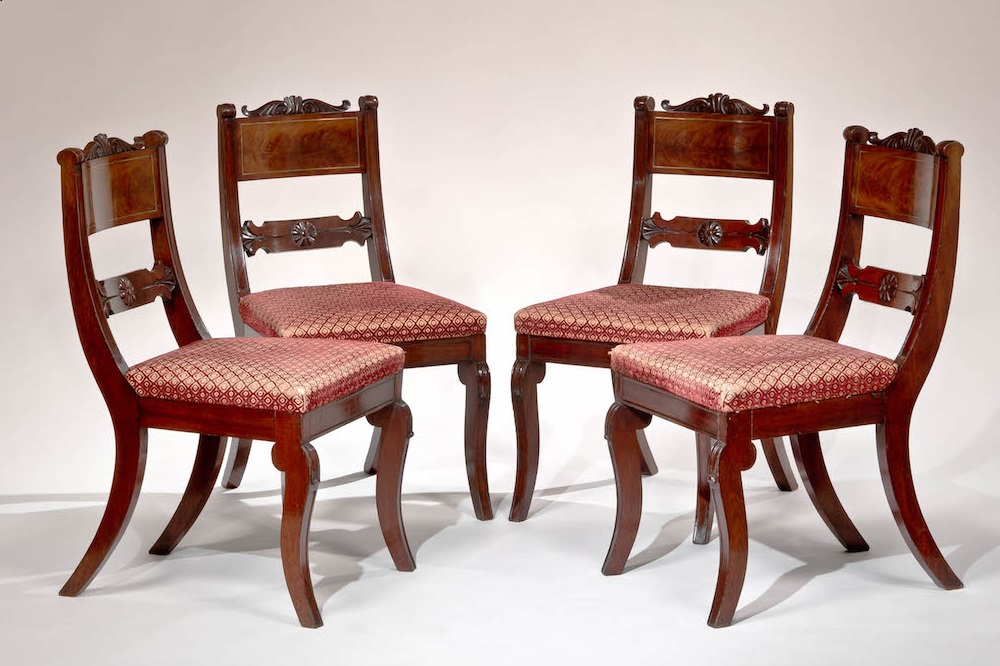 Carved Mahogany Dining Chairs by Richard Parkin