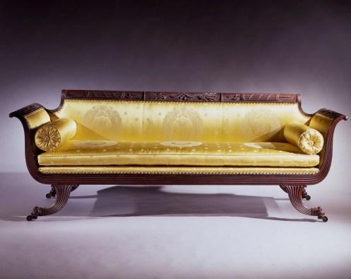 Grecian Carved Mahogany Sofa by Duncan Phyfe