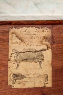 Label of Cabinetmaker John Needles