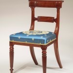Set of Eight Regency Carved Mahogany Dining Chairs