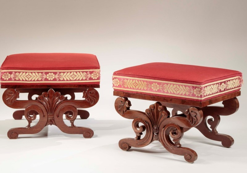 Two Classical Stools or Tabourettes