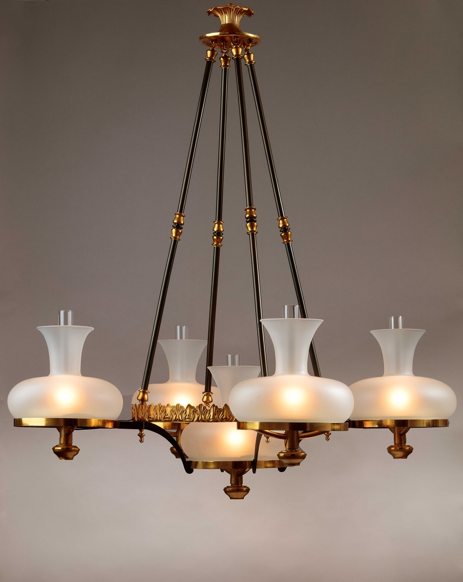 Brass Sinumbra Chandelier by Henry Hooper