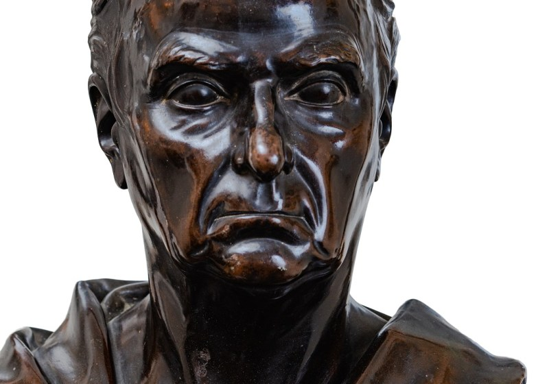 JOHN CROOKSHANKS KING (1806-1882) Bronze Bust of Daniel Webster, Washington, D.C., c, 1850. Height 29½ inches