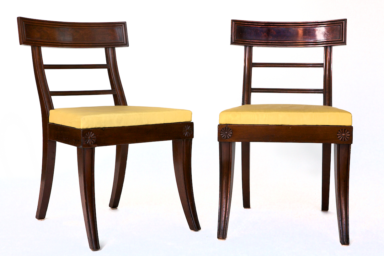 Pair of Mahogany Klismos Chairs, Philadelphia, c. 1820