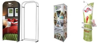 trade show banners and stands, curved, 3D & backlit