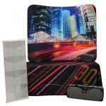 Trade Show Table Top Travel Kit 5, 6ft 3-Sided Table Cloth, 6ft Wave Tube Display