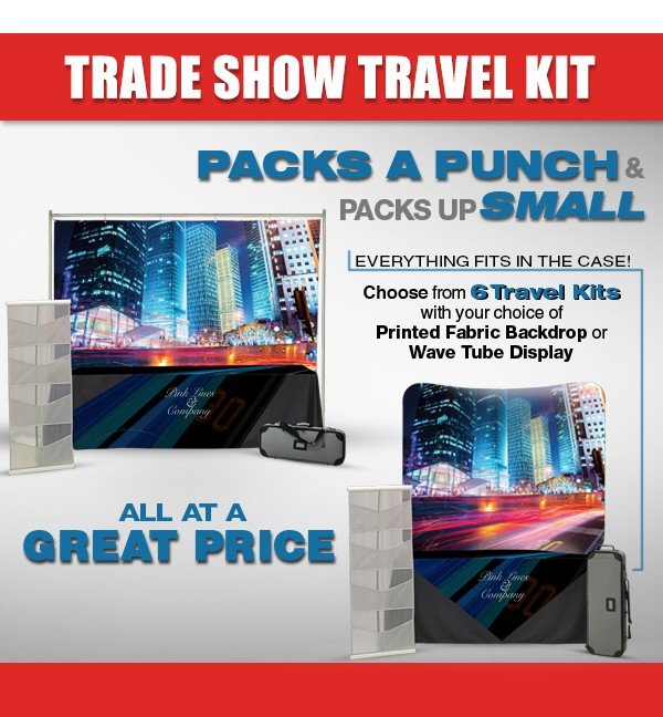 Trade Show Table Top Full Travel Kits