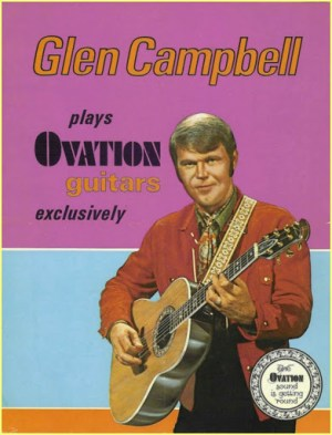 Glen Campbell Ovation advert