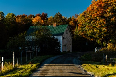 Winding Dirt Road near Craftsbury Common, Vermont