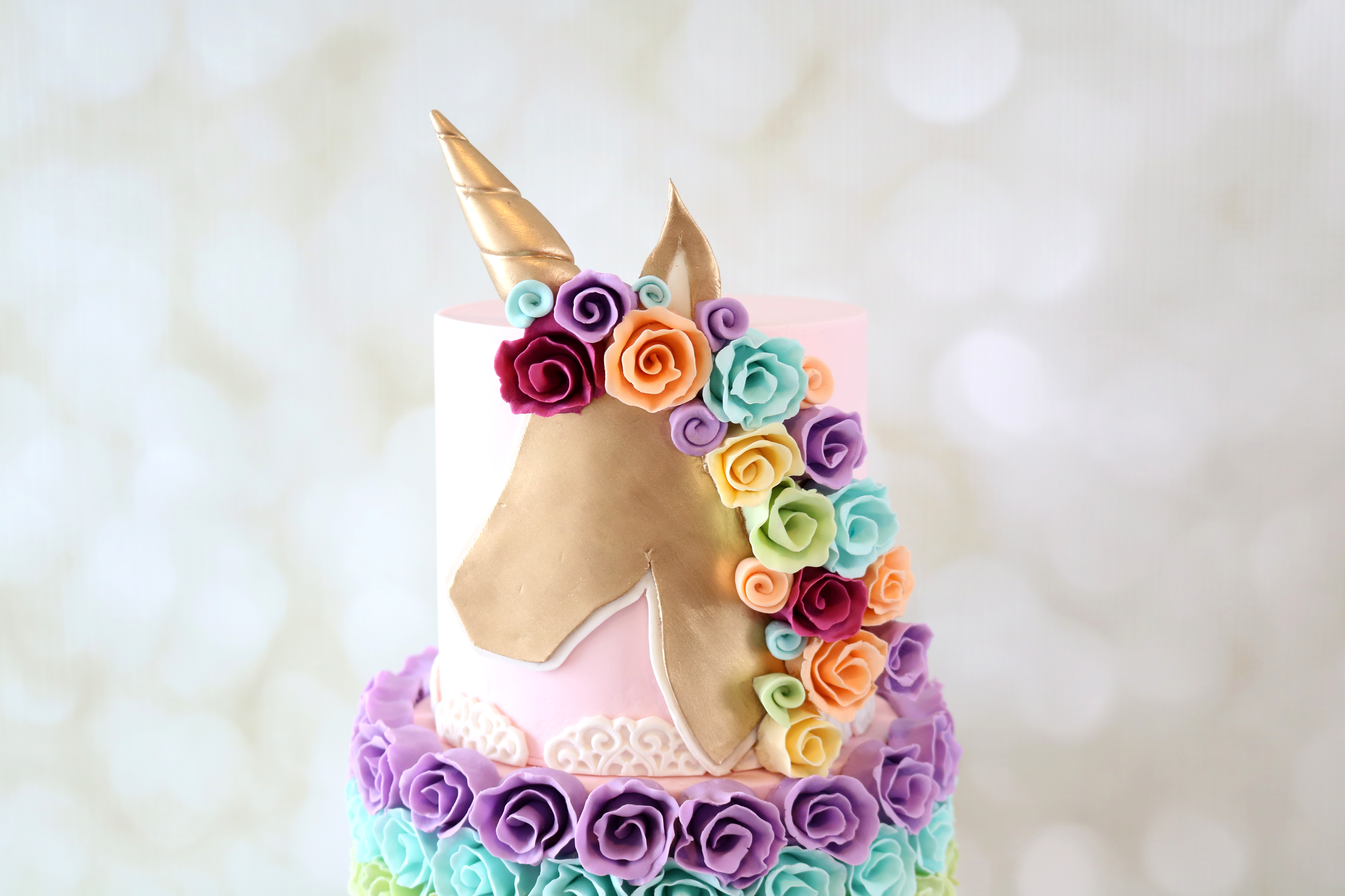Rainbow Unicorn Tutorial Template
