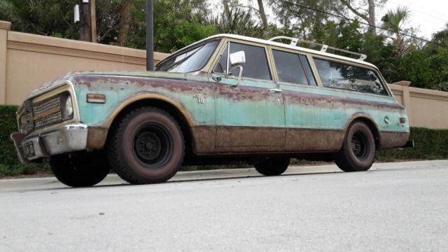 1968 3 Door Suburban 68 Chevy C 10 Surf Wagon Patina Shop