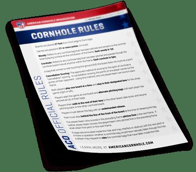 Official Cornhole Rules By The Aco American Cornhole Organization