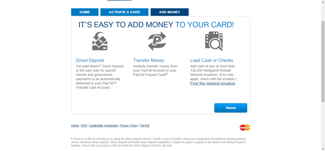 paypal prepaid debit cards american credit center - Transfer Money To Prepaid Card