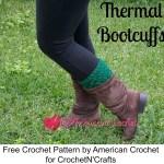Thermal Bootcuffs free crochet pattern
