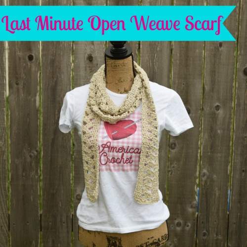 Last Minute Open Weave Scarf