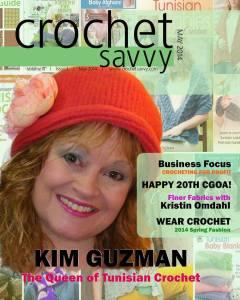 Spring issue of Crochet Savvy magazine 2014 w Kim G