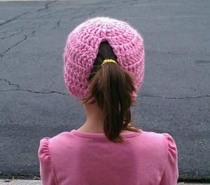 Toasty Warm Ponytail Hat