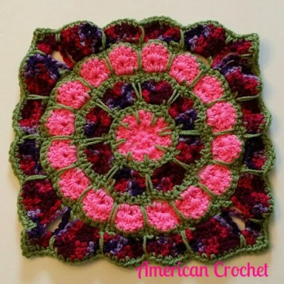 2015 American Crochet Afghan Crochet~Along: Square #2!