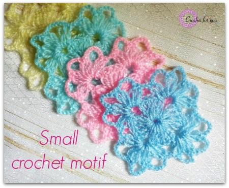 Small Crochet Motif   Crochet For You