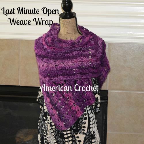 Open Weave Wrap   Free Crochet Pattern   American Crochet @americancrochet.com #freecrochetpattern