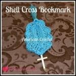 Shell Cross Bookmark free crochet pattern