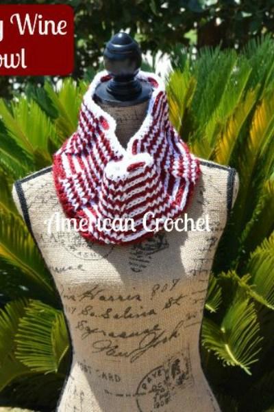 Snowy Wine Cowl free crochet pattern