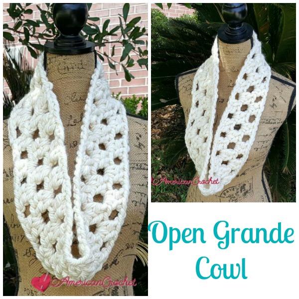 Open Grande Cowl | Free Crochet Pattern | American Crochet @americancrochet.com #freecrochetpattern