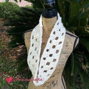 Open Grande Cowl   Crochet Pattern   American Crochet @americancrochet.com #crochetpattern