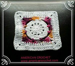 Batik Flower Granny Square  | Free Crochet Pattern | American Crochet @americancrochet.com #freecrochetpattern #freecrochetalong
