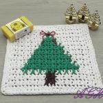Christmas Tree Washcloth