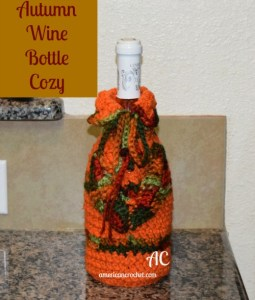 Autumn Wine Bottle Cozy