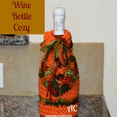 2015 Holiday Blog Hop ~ Autumn Wine Bottle Cozy