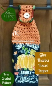 Give Thanks Towel Topper