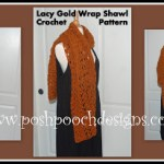 Lacy Gold Shawl Wrap