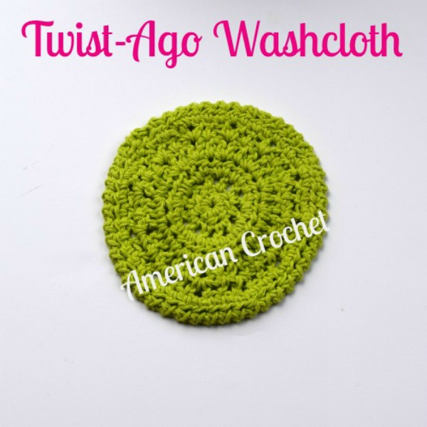Twist-Ago Washcloth | Free Crochet Pattern | American Crochet @americancrochet.com #freecrochetpattern