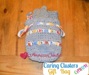 Caring Clusters Gift Bag free crochet pattern