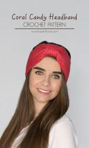 Coral Candy Headband Crochet Pattern 1