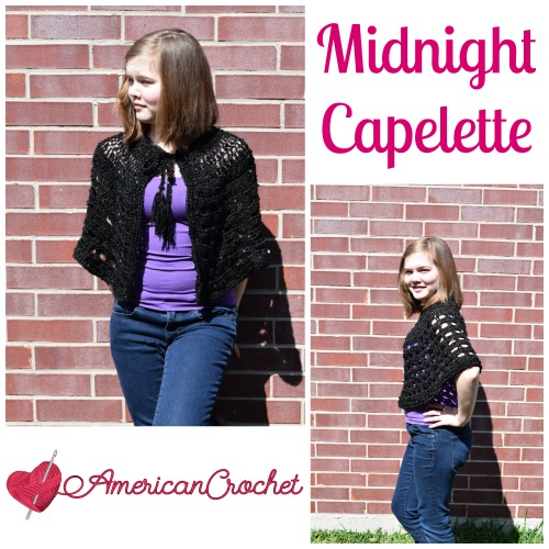 Midnight Capelette Collage