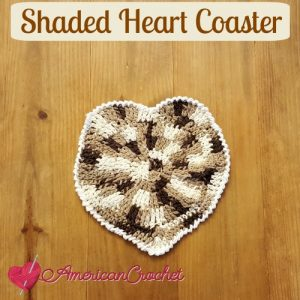 Shaded Heart Coaster w white edging