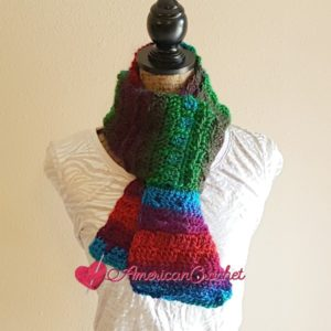 Stormy Tranquility Scarf | Crochet Pattern | American Crochet @americancrochet.com #crochetpattern
