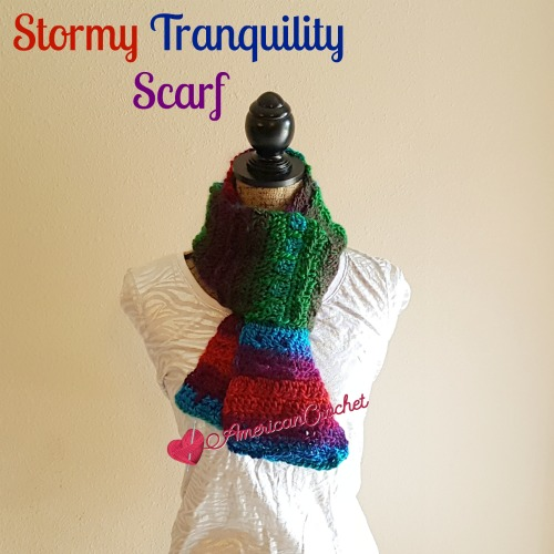 Stormy Tranquility Scarf | Crochet Pattern | American Crochet @americancrochet #crochetpattern