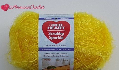 Red Heart-Scrubby-Sparkle Yarn Review