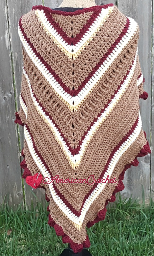 Fall Shawl | Free Crochet Pattern | American Crochet The Lavender Chair #freecrochetalong