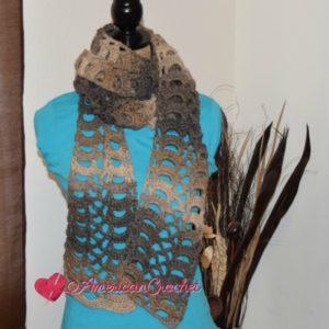 Rocky Road Lace Scarf | Crochet Pattern | American Crochet @americancrochet.com #crochetpattern
